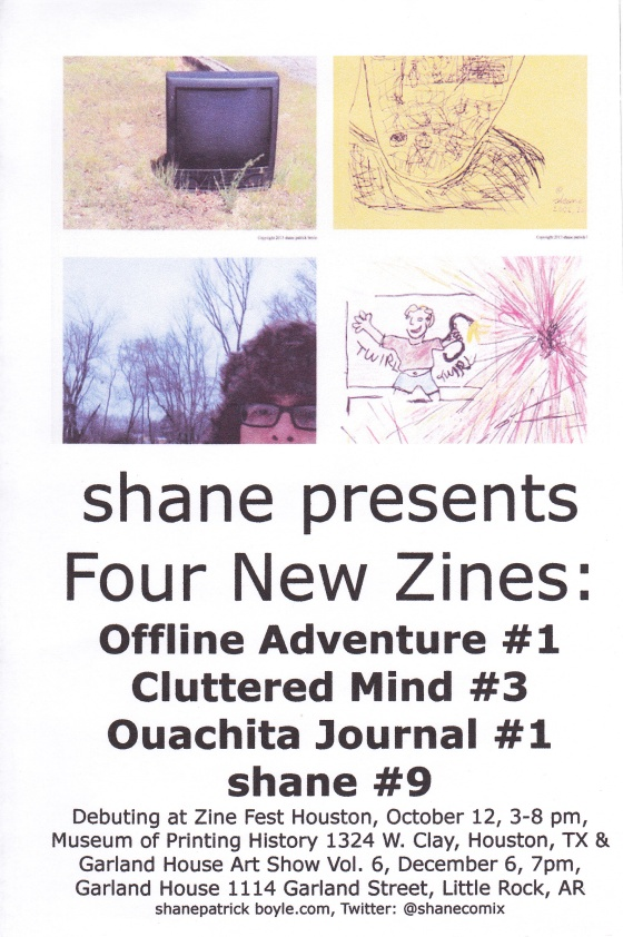 Come to Zine Fest Houston and see what  I've been working on.